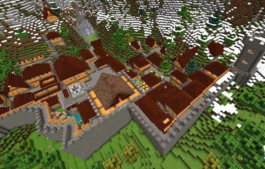 ciudad con muralla