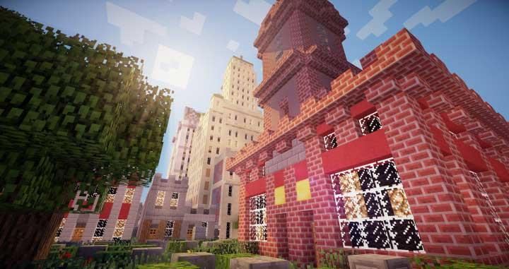 ciudad en minecraft