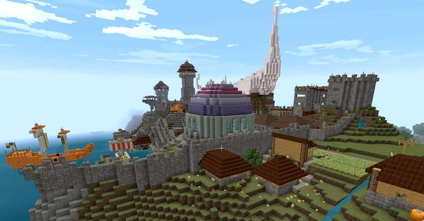 ciudad en minecraft creativo