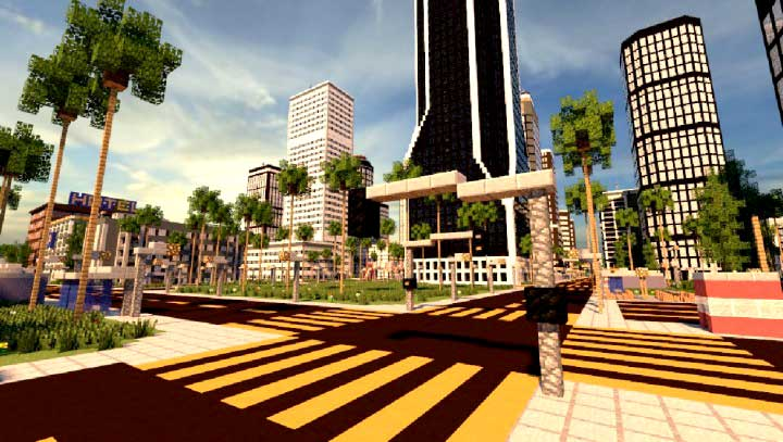detalle los angeles en minecraft