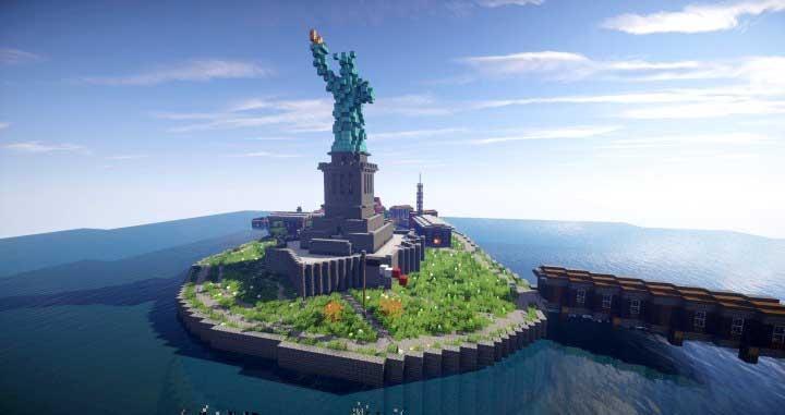 estatua de libertad minecraft