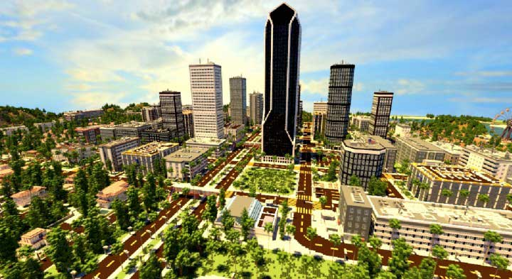 los angeles en minecraft