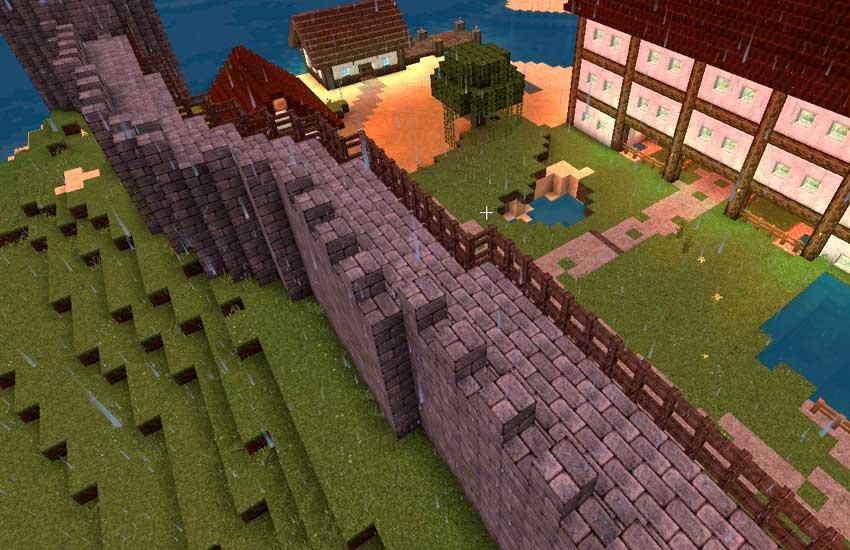muralla minecraft creativo