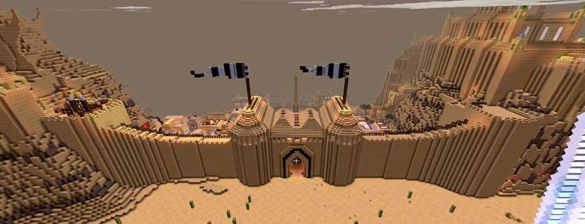 muralla minecraft desierto
