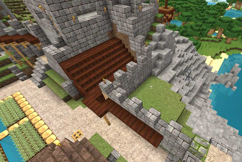 vista muro arriba minecraft