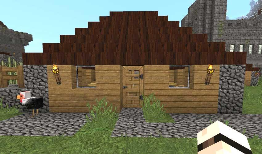 Casas 10 consejos b sicos gu a minecraft for Materiales para techos de casas