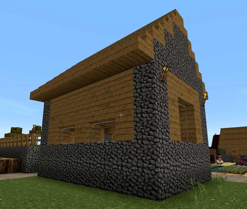 Casas 10 consejos b sicos gu a minecraft for Casas de piedra y madera
