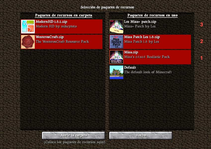 paquete de texturas minecraft