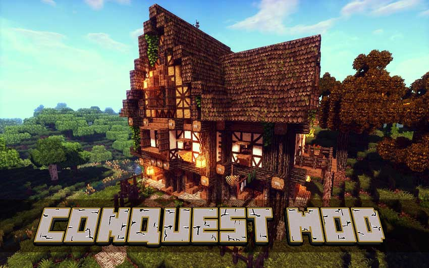 Construccion en Minecraft Conquest Mod