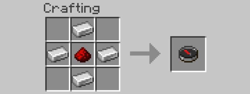 craftear brújula minecraft