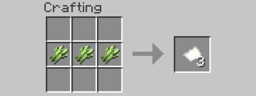 hacer papel en minecraft